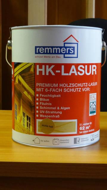 HK-Lasur Декоративная защитная лазурь премиум-класса, содержащая биоциды, для древесины снаружи помещений. Специальная смесь антисептиков и полимеров защищает от синевы, гнили, грибка, водорослей, насекомых и ультрафиолета.