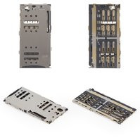 Коннектор SIM-карты, на две SIM-карты, тип 4