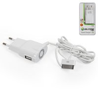Сетевое зарядное устройство Bilitong для мобильных телефонов Apple iPhone 2G, iPhone 3G, iPhone 3GS, iPhone 4, iPhone 4S, iPhone 5; MP3-плееров Apple