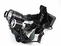 Фонарь светодиодный Bailong LL-6633 Велофара+налобный, фото 1