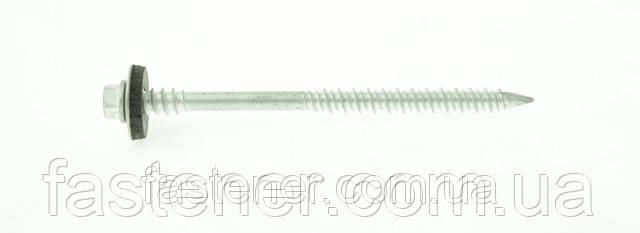 Шуруп по бетону для сендвіч-панелей 6,3/7,0х100, з шайбою EPDM, бетон/дерево (упак -500 шт), Швеція