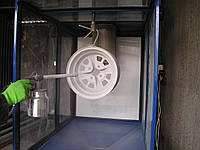 Оборудование для порошковой окраски дисков