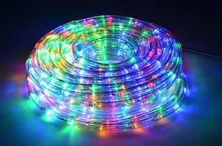 Гирлянда Дюралайт ,10м (разноцветные), прозрачная трубка.