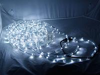 Гирлянда Дюралайт ,10м ), прозрачная трубка,  Свет белый