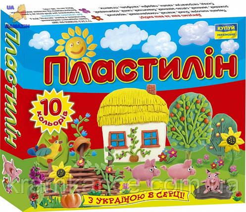 """Пластилин Мицар 10цв """"Моя Країна"""" Ц259016у, фото 2"""