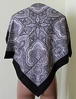 Платок чёрный шерстяной Агафия, фото 1