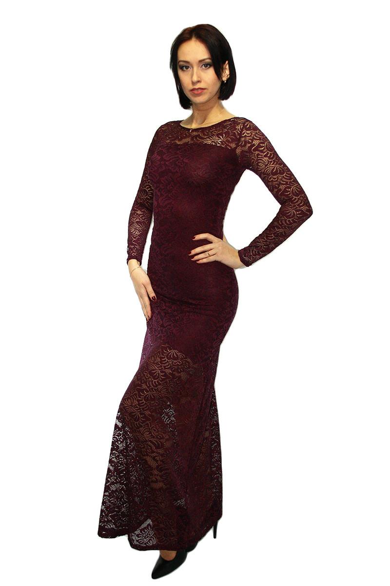 Платье Oscar Fur ПВД71  Марсала