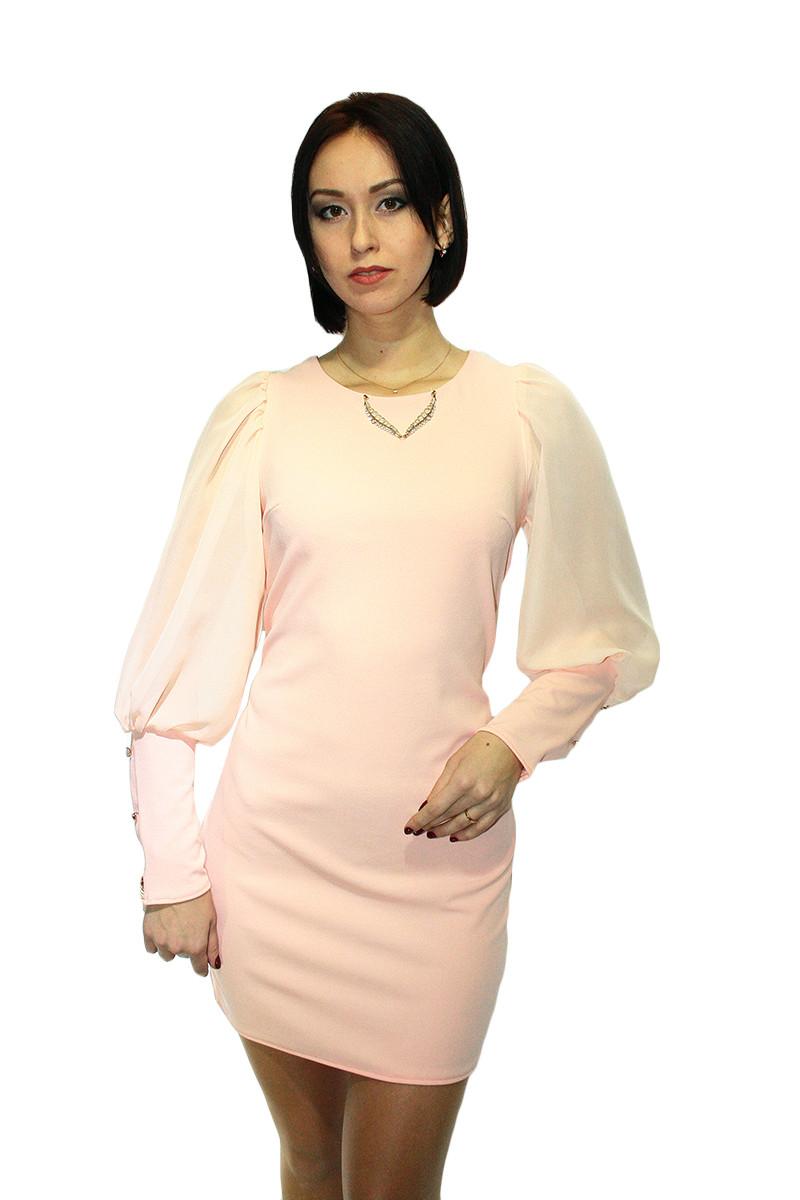 Платье Oscar Fur ПКТ-1  Нежно-розовый