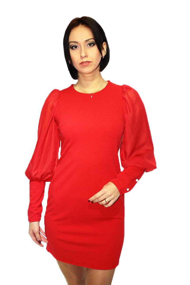 Вечернее платье удлиненное, ярко-красного цвета / ПКТ-1 S dress