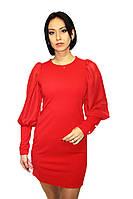Вечернее платье удлиненное, ярко-Красное, фото 1