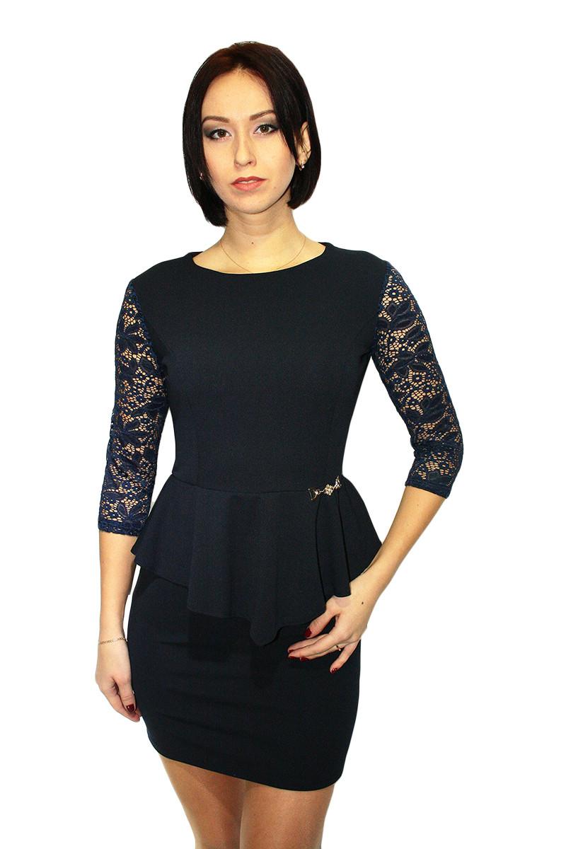 Платье Oscar Fur ПКТ-3-1  Темно-синий