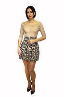 Платье Oscar Fur  ПКТ4- 2   Бежевый, фото 1