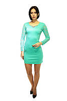 Вечернее платье бирюзового цвета, фото 1