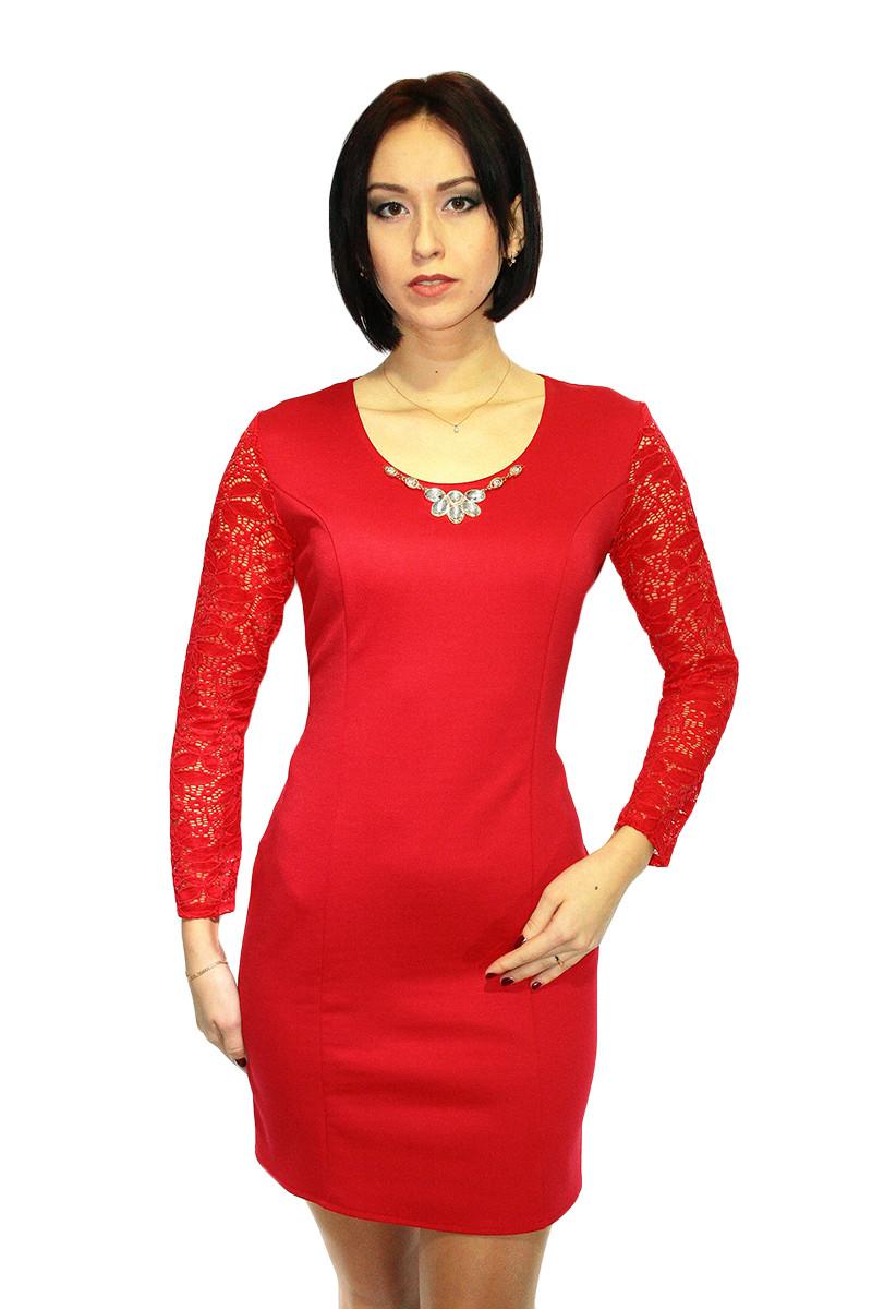Платье Oscar Fur  ПКТ-5-3  Ярко-красный
