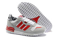 Кроссовки Adidas Originals ZX 700 Leopard Trainers Grey Red White Black, фото 1
