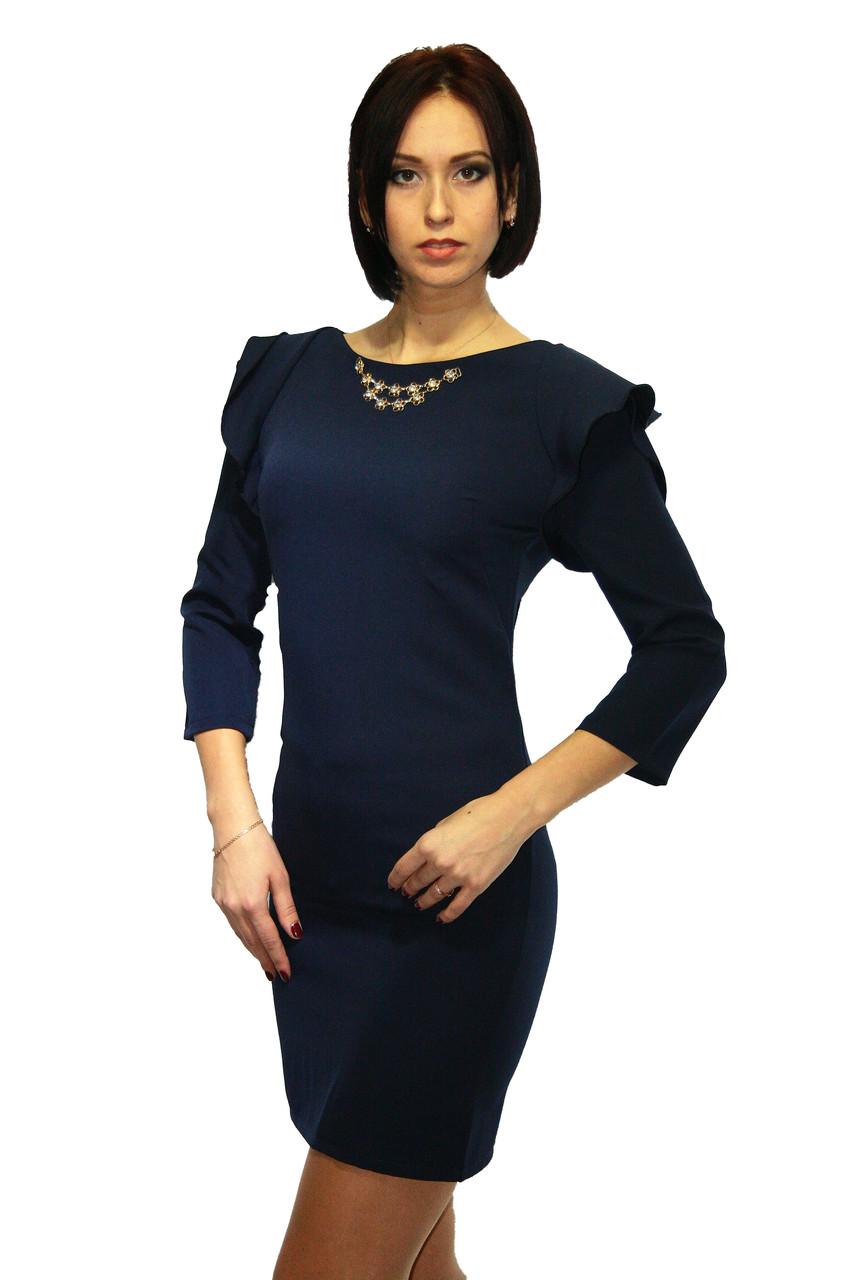 Платье Oscar Fur  ПКТ-9  Темно-синий