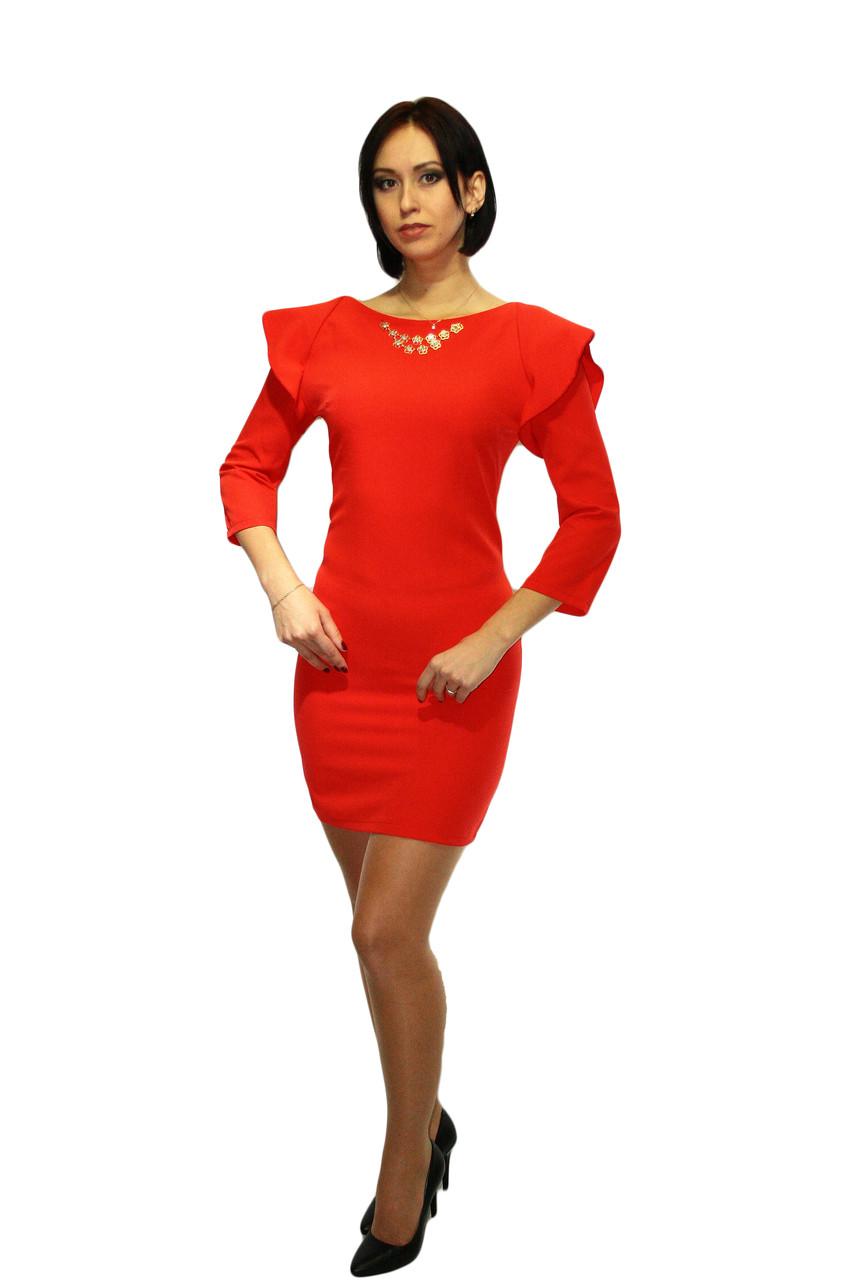 Платье Oscar Fur  ПКТ-10  Красный