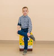 Рубашка клетка для мальчика (2-12 лет)