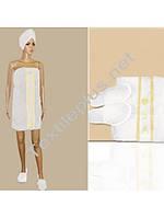 Набір для сауни жіночий білий Merzuka, фото 1