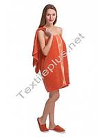 Набор для сауны женский Merzuka темно оранжевый