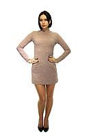Платье трикотажное в светло-бежевом цвете, фото 1