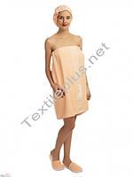 Набор для сауны женский персиковый Merzuka