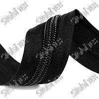 Змейка рулонная тип5 чёрная(200ярдов)