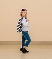 Костюм тройка для девочки (джинсы, кофта, реглан)