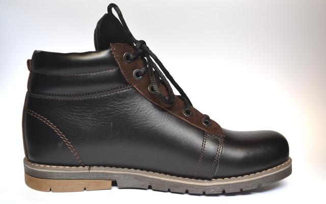 Кожаные зимние мужские ботинки Rosso Avangard. Bridge Street черные
