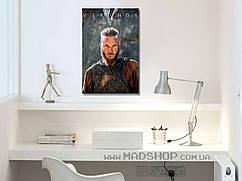 Картина 40х60 см Викинги Рагнар Лодброк