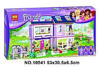 """Детский конструктор Bela Friends 10541 """"Дом Эммы"""" (аналог LEGO Friends 41095), 731 дет"""