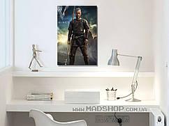 Картина 40х60 см Викинги Рагнар с копьём