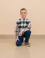 Рубашка крупная клетка для мальчика