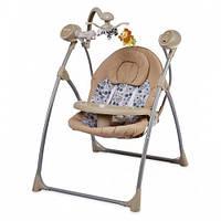 Детское кресло-качалка Alexis-Babymix SW102RC бежевый с пультом ДУ