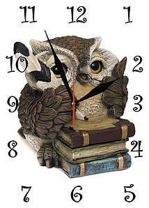 """Часы настенные стеклянные """"Совушка"""""""