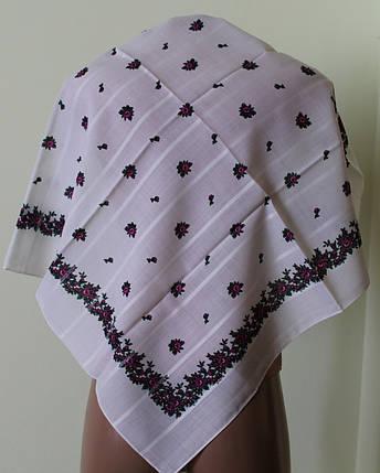 Платок белый шерстяной Кристина, фото 2