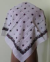 Платок белый шерстяной Кристина