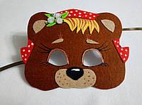 Карнавальная маска Медведица