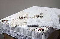 Скатерть Китай лен вафелька 100х150