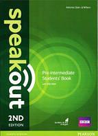 Учебник Speakout 2nd Pre-Intermediate SB+DVD