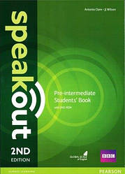 Учебник Speakout 2nd Pre-Intermediate SB+DVD