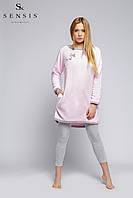 Женский костюм для сна и дома. Koszula Soft+legginsy Sensis