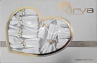 Скатерть Arya Cetin Monalit с салфетками и кольцами 12 шт. 160Х350 белая