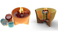 Принцип действия запатентованного изобретения от  Denk Keramik – декоративного факела – свечи для Вашего семейного очага