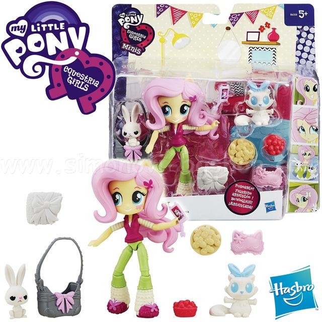 My Little Pony Equestria Girls Minis Fluttershy Slumber Party  ( мини-кукла Флуттершай Пижамная вечеринка)