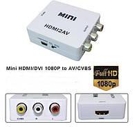 Конвертер с HDMI на AV 3RCA 1080p*2046