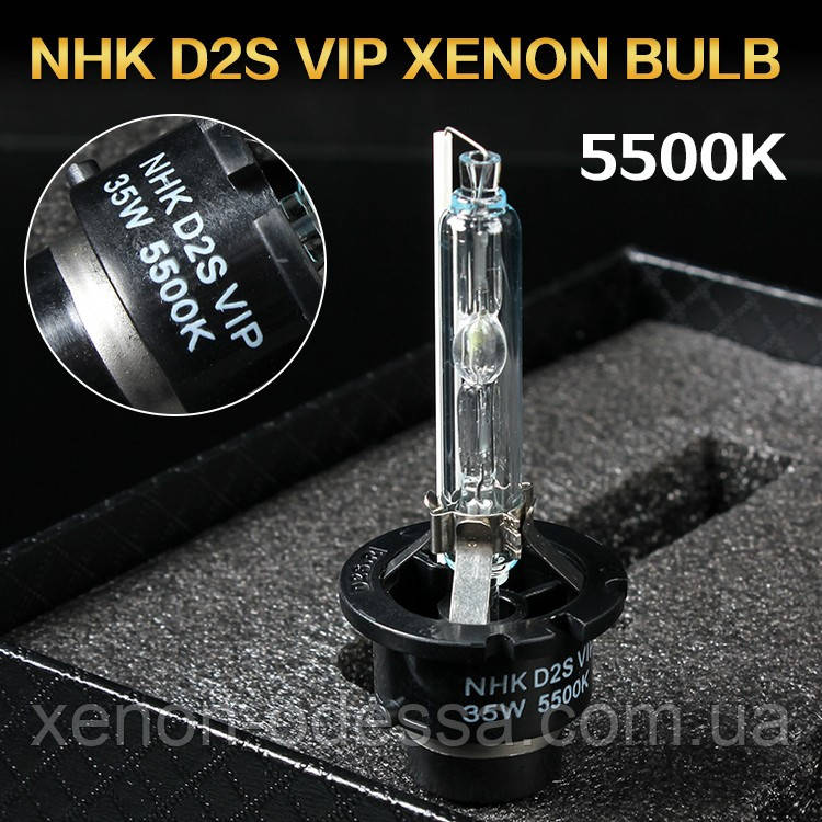 Лампа ксенон D2S 5500K NHK VIP Version (колбы Philips UV) / D2S 5500K NHK VIP Version (Philips raw UV tube)