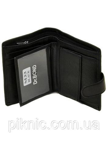 Кожаный мужской клатч, кошелек, портмоне Dr Bond на кнопке. (натуральная кожа), фото 2