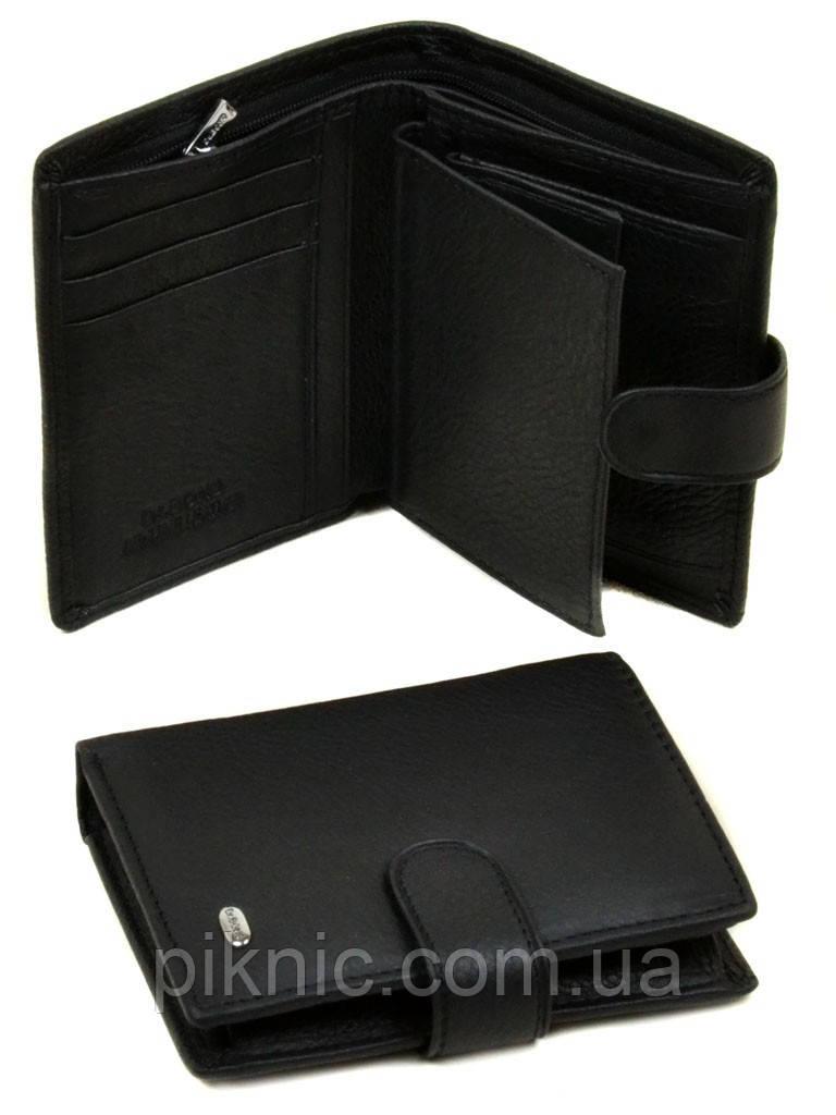 Кожаный мужской клатч, кошелек, портмоне Dr Bond на кнопке. (натуральная кожа)