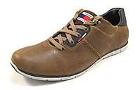 Туфли мужские TOMMY HILFIGER кожаные, коричневые р.42,43,45